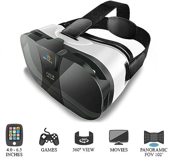 c3eb57f5c86d Amazon.com  QWESEN VR Headset Best Glasses for Mobile Phone ...