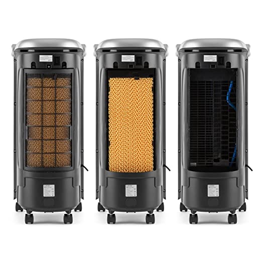 Klarstein Maxfresh WH • Enfriador Climatizador Portátil con Ventilador • Humidificador • Mando Distancia • 6 L • 65 W Potencia • 3 Modos ventilación • Bolsa ...