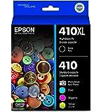 Epson 410XL Black & Standard Photo Black and C/M/Y Color Ink Cartridges, Combo 5 Pack (T410XL-BCS)
