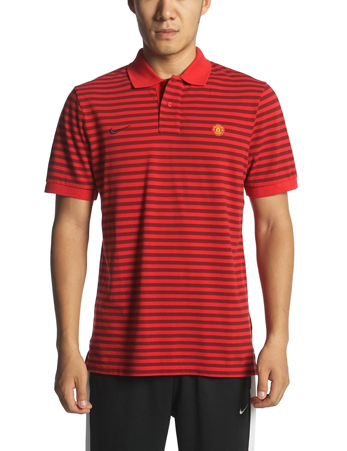 Nike Manchester United Polo auténtico 2010/11 - Red-M: Amazon.es ...