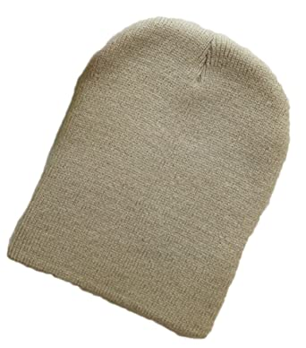 Unisexe Bonnets Laine Crochet Chapeau Bébé Garçon Fille Naissance Tricot Hat  (beige) 871e89adf82