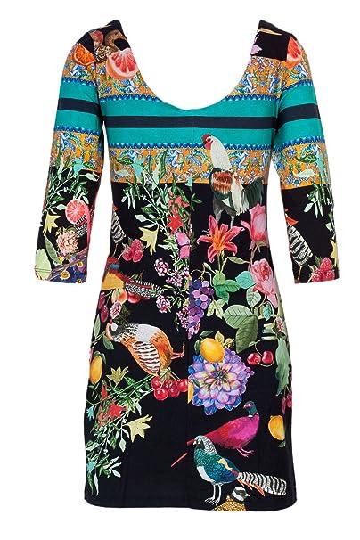18wwvk34 Robe Vest Desigual Femme Alada Noir M Courte W7X8qvRO1