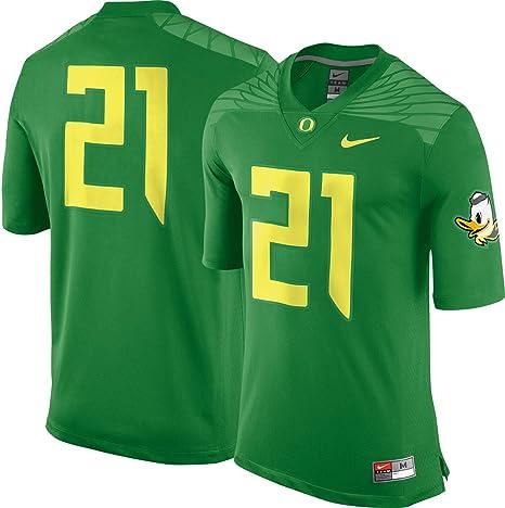 21 Oregon patos Nike Apple verde College juego réplica camiseta de fútbol (tamaño mediano