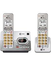 ATT DECT 6.0 2 Cordless Phones with Caller ID, ITAD, Handset Speakerphones, White and Grey - EL52203