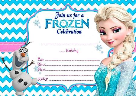 Frozen Elsa Olaf 12 Tarjetas De Invitación Para Cumpleaños