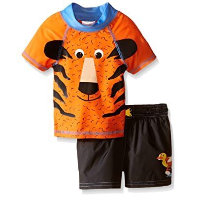 Candlesticks Baby Boys' Tiger Rash Guard Set