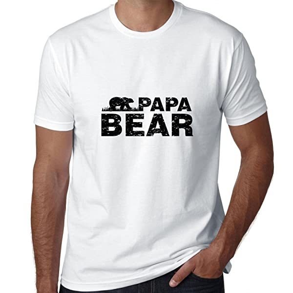 Hollywood Thread Papa Bear - Dad Vintage Proud Father Dad T-shirt