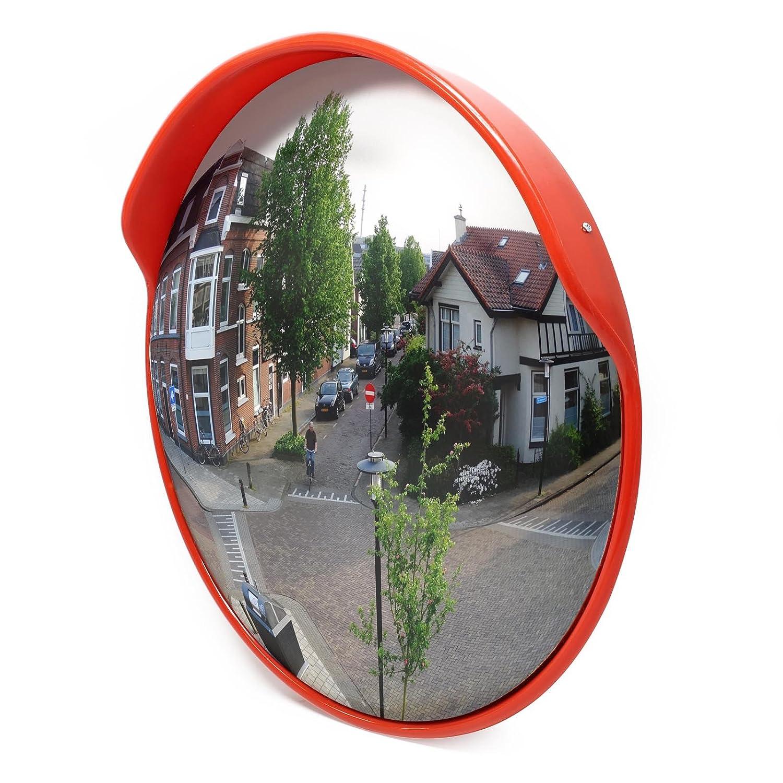Wiltec Specchio parabolico per Traffico Stradale Specchio di Sicurezza sorveglianza Convesso 75cm