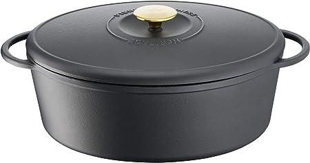 Tefal Heritage Cacerola Oval 34x26 cm, Hierro Fundido,7,2 litros, Tapa potenciadora de condensación, retención del Calor, Fuego Lento, guisos, caramelización, Apto para Todo Tipo de cocinas, Cast Iron: Amazon.es: Hogar