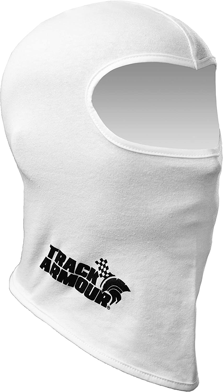 TRACK ARMOUR Racing Head Sock Balaclava for Auto and Motorcycle Racing WHITE COLOR TAHS-WT: Automotive