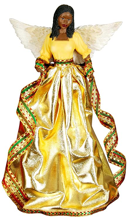 Tiffany (Gold): African American Christmas Tree Topper - Amazon.com: Tiffany (Gold): African American Christmas Tree Topper