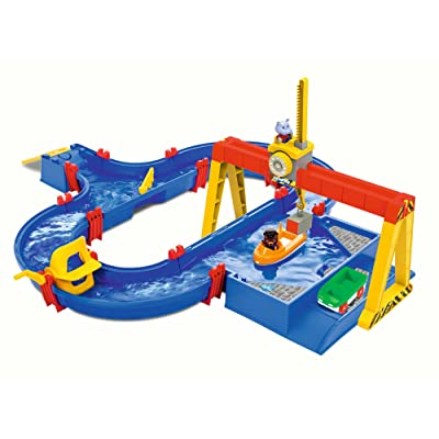 BIG AQUAPLAY 8700001532 Aquaplay Container Port, Blue: Toys & Games