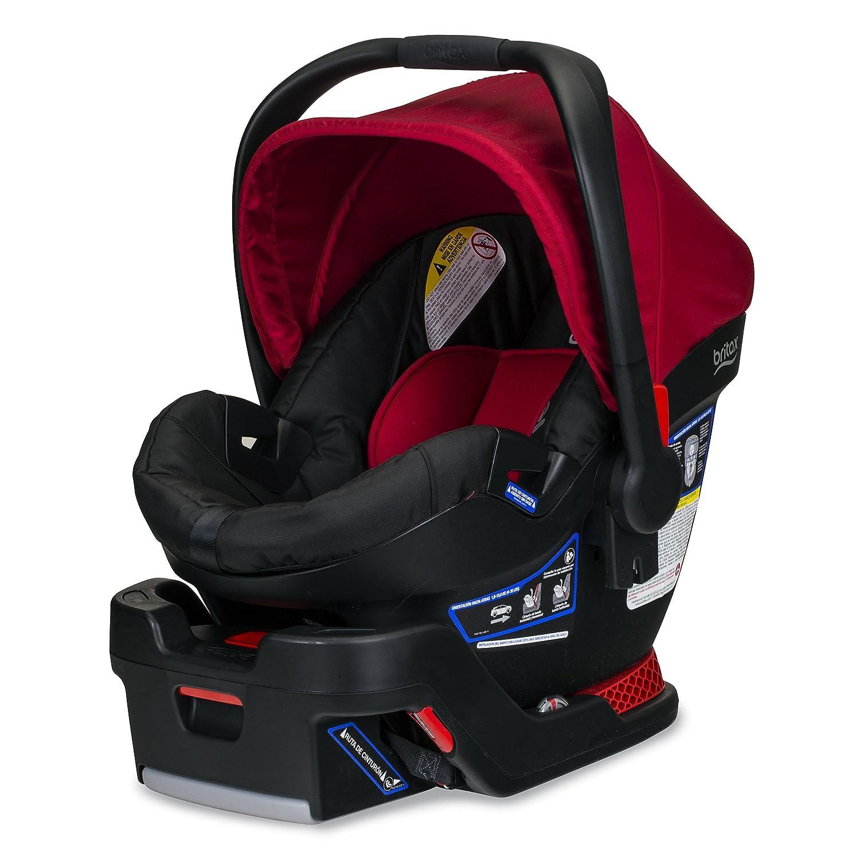 Back Seat Mirror Britax B-Safe 35 Infant Car Seat Cardinal and 2 EZ-Cling Window Sun Shades