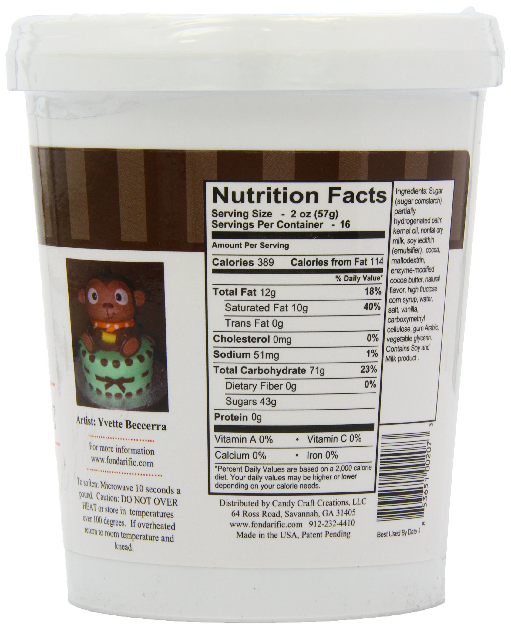 Fondarific Chocolate Fondant Brown, 2-Pounds by Fondarific (Image #6)