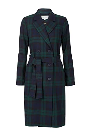 Mantel kariert blau grun