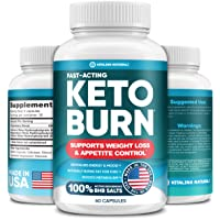 Keto Diet Pills with Pure BHB Exogenous Ketones - Effective Keto Burn Made in USA...