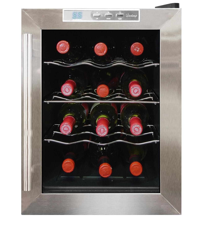 vinotemp wine fridge. Amazon.com: Vinotemp International 12-Bottle Thermoelectric Wine Cooler: Free Standing Cellars: Kitchen \u0026 Dining Fridge
