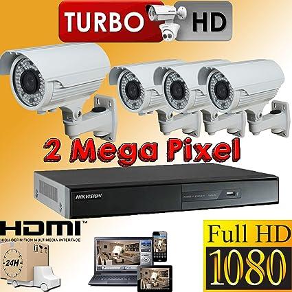 Hikvision 4 DVR HD TVI gravadora Turbo 1080 P HDMI híbrido P2P nube, 4X HD