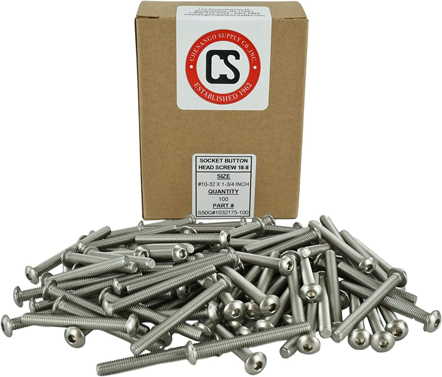 1//2 to 2 Available Stainless Steel 18-8 Socket Button Head Cap Screws Full Thread Machine Thread Stainless #10-32 x 1 10-32 x 1 Hex Drive