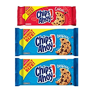 CHIPS AHOY! Original Chocolate Chip Cookies & Chewy Cookies Variety Pack, Family Size, 3 Packs