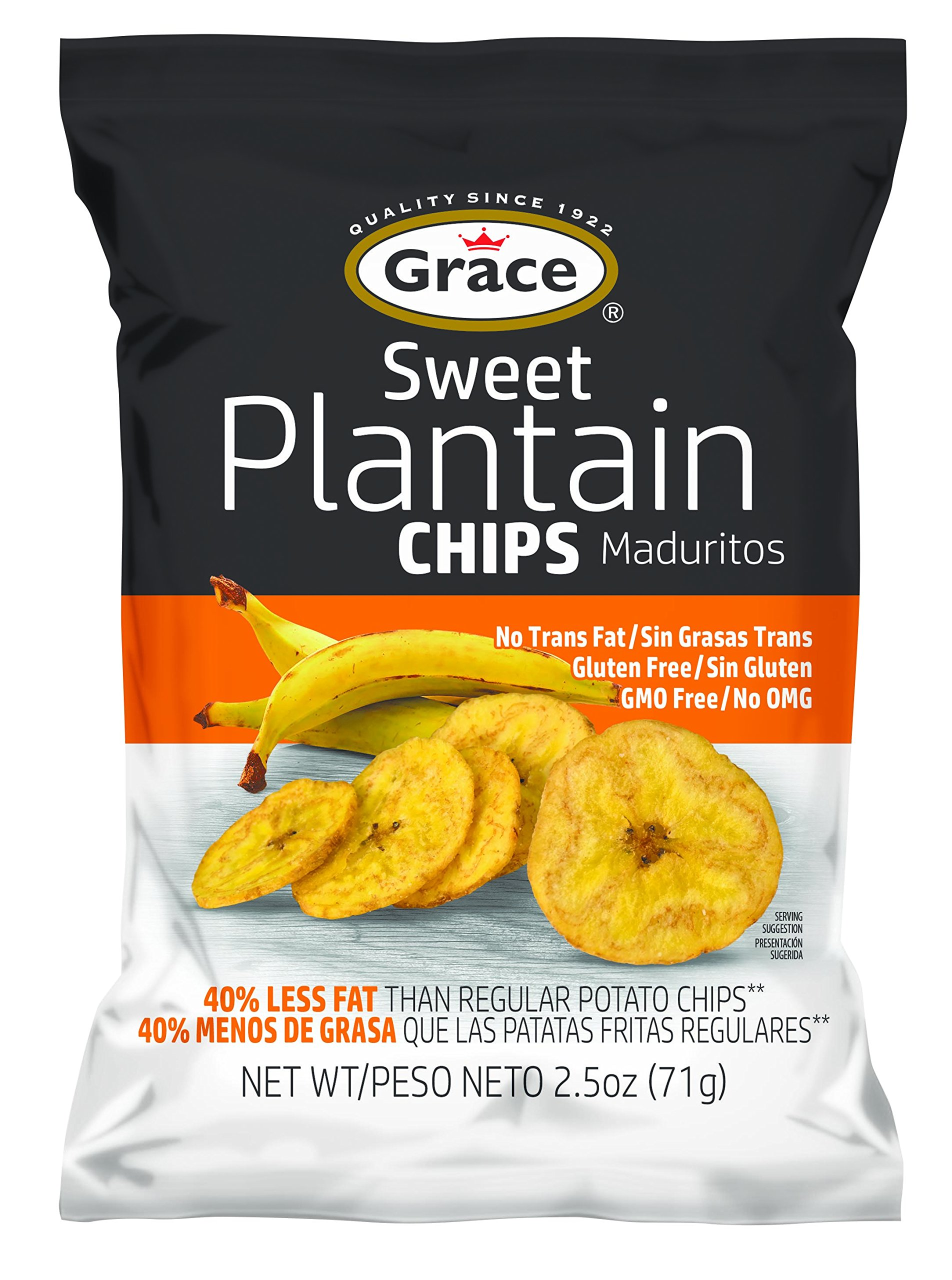Grace Sweet Plantain Chips 24 Pack