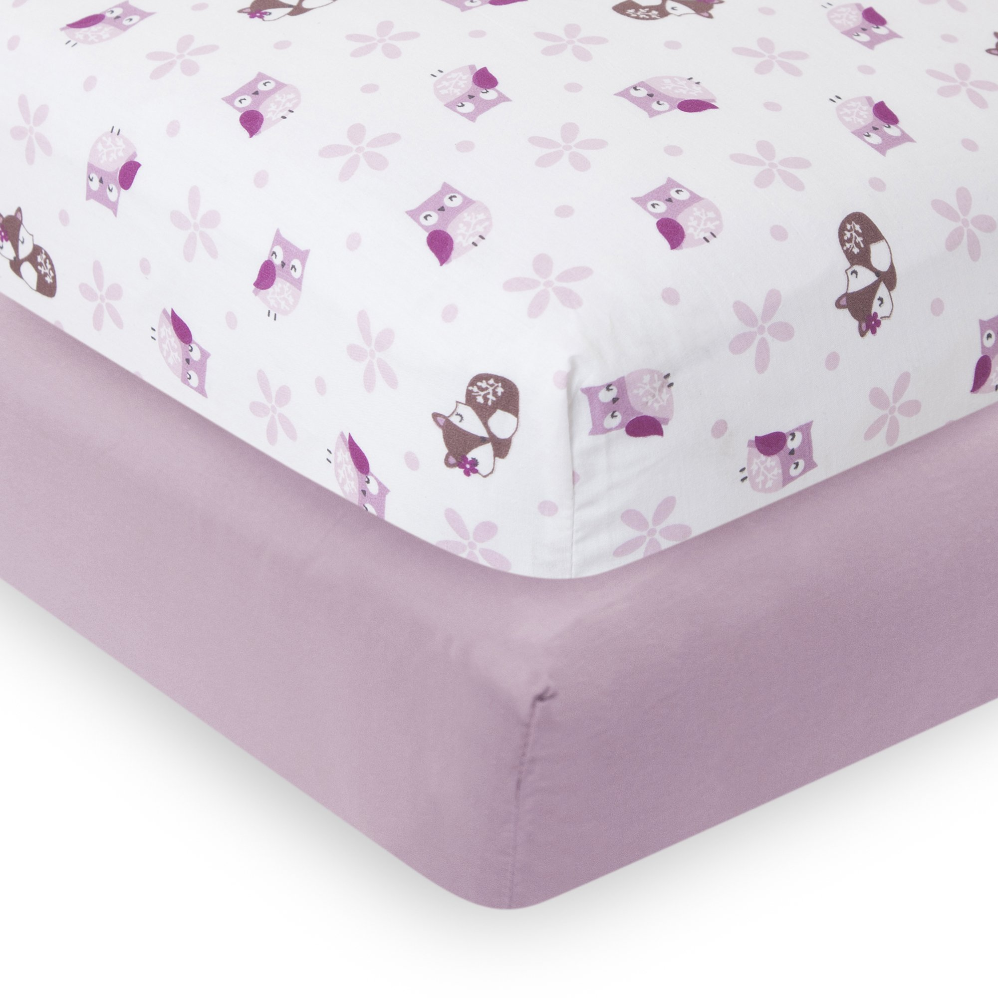 Bedtime Originals 2 Piece Lavender Woods Crib Sheet