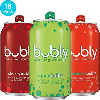 18-Pack Bubly Sparkling Water 3 Flavor 12oz Variety Pack Cans