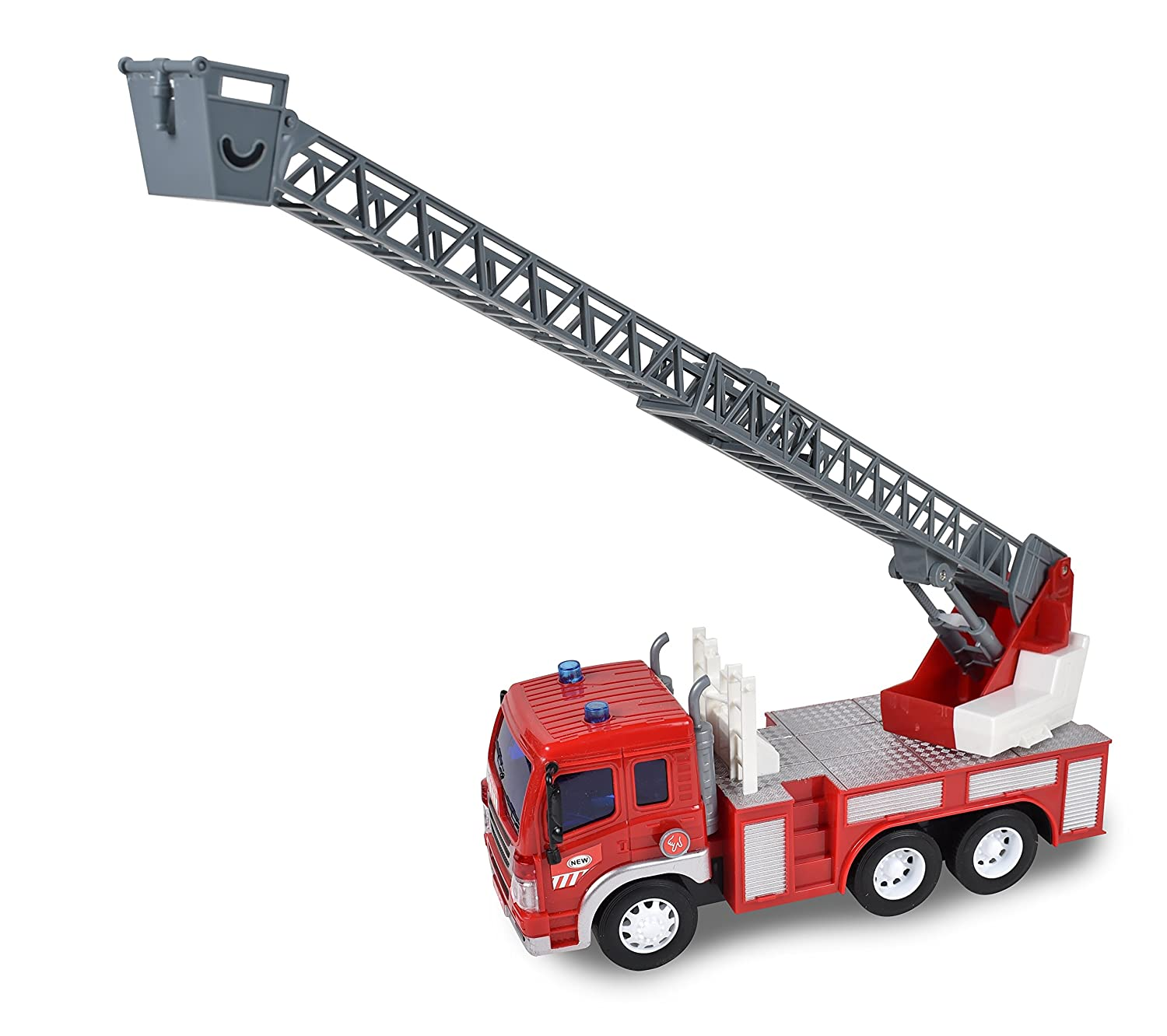 amazon com maxx action fire rescue ladder toy truck toys u0026 games