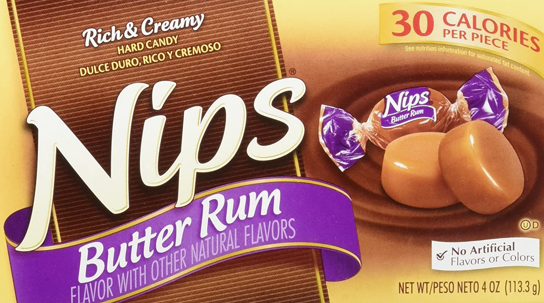 Nips Butter Rum Candy, 4-Ounce Boxes (Pack of 12): Amazon.es: Alimentación y bebidas
