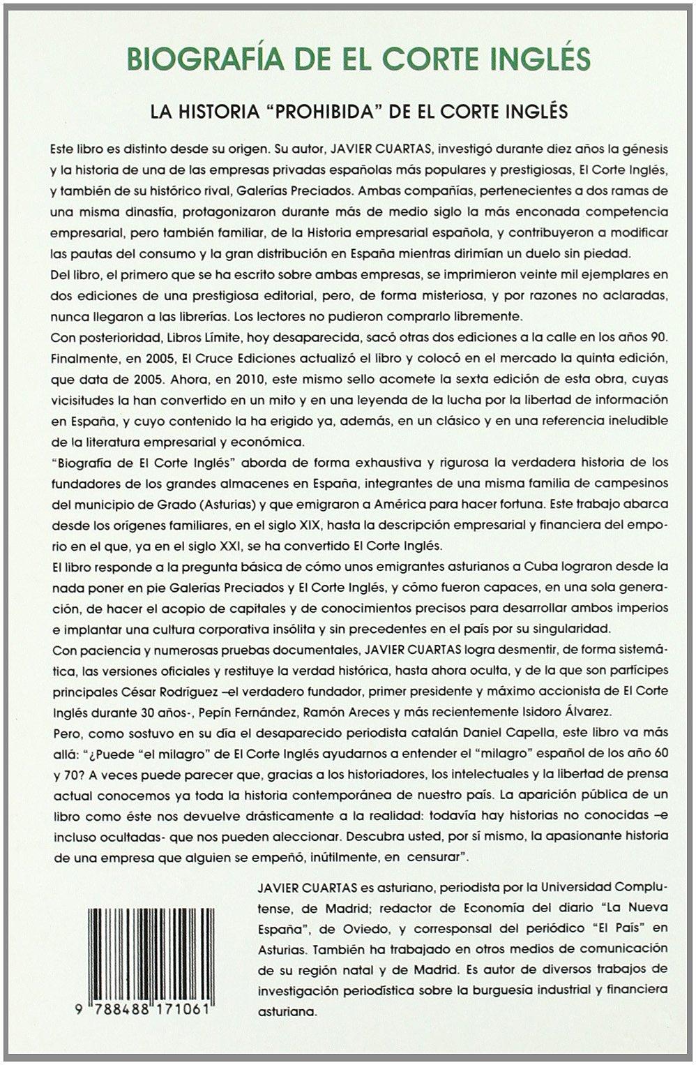 Biografía de el Corte Inglés: Amazon.co.uk: Javier Cuartas ...
