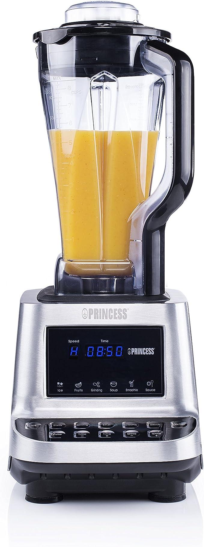 Princess 219000 Batidora Healthy Turbo 01.219000.01.001, 1600 W, 2 ...