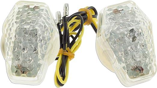 Clear LED Flush Mount Turn Signal Light Suzuki GSXR 600 750 1000 Bandit SV S 650