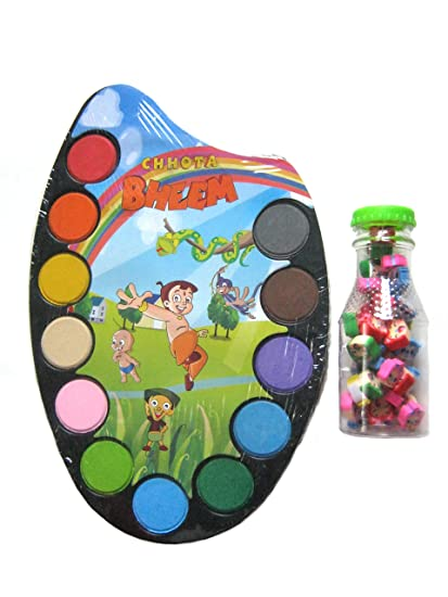 Buy Water Colour Palette with Paint Brush for kids Online at Low ...