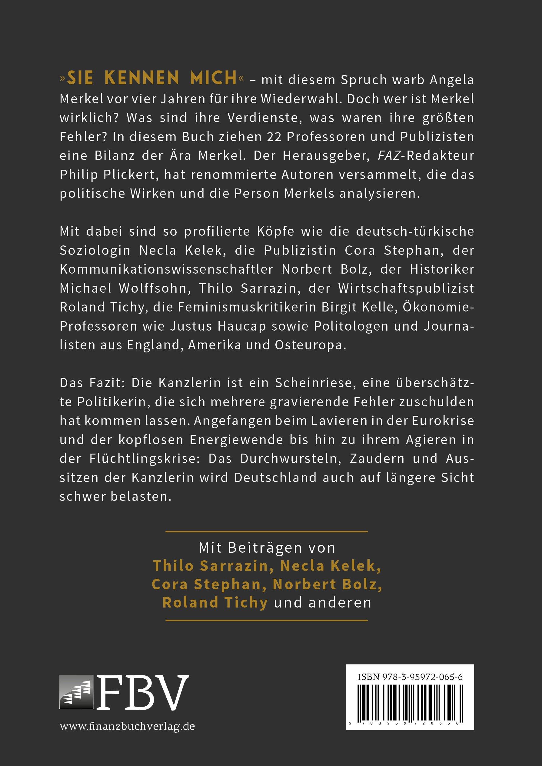 Merkel Eine Kritische Bilanz Amazonde Philip Plickert Bücher
