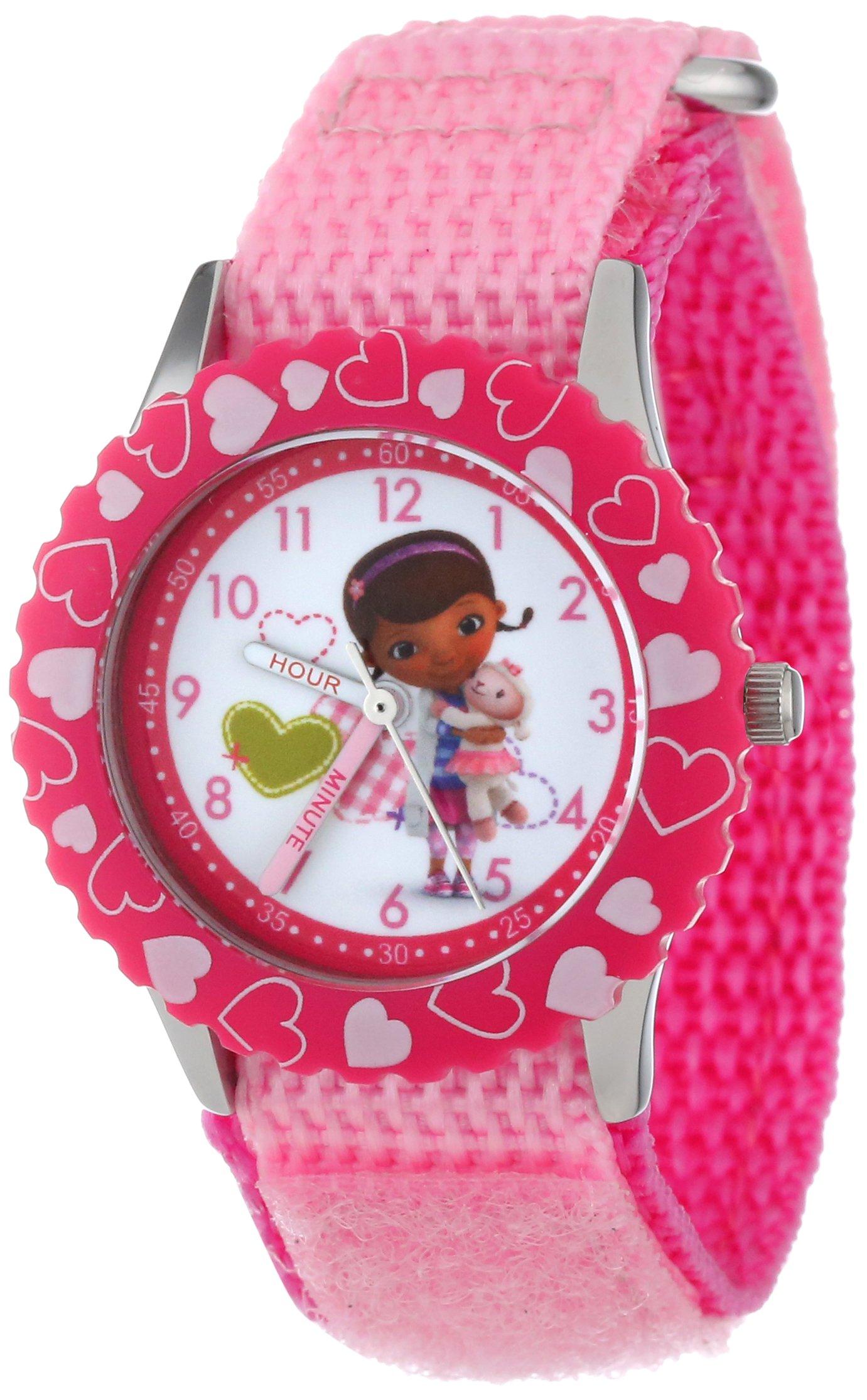 Disney Kids' W000910 ''Doc McStuffins'' Stainless Steel Time Teacher Watch