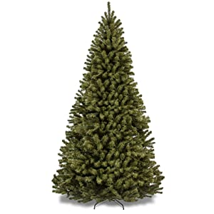 Best Choice Products 9ft Spruce Hinged Artificial Christmas Tree w/Easy Assembly, Foldable Stand, Green