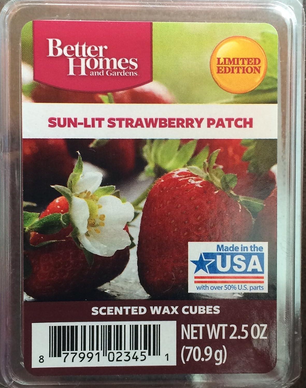 Better Homes and Gardens Sunlit Strawberryパッチワックスキューブ B00ILJDG4Y