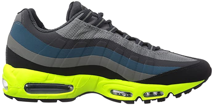 NIKE Mens Air Max 95 No Sew Running Shoes Gray Grau (Med Base Grey/White-Bs  Gry-Vlt) Size: 9: Amazon.co.uk: Shoes & Bags
