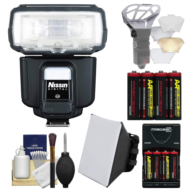 Nissinデジタルi60 a Airワイヤレスズームフラッシュwithソフトボックス+バウンスディフューザー+電池&充電器+キットfor Canon EOS e-ttlデジタルSLRカメラ   B01FR2139C