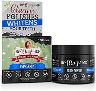 product image for My Magic Mud - Whitening Tooth Powder, Polishing, Brightening, Charcoal, Peppermint, 1.06 oz. (150 uses)