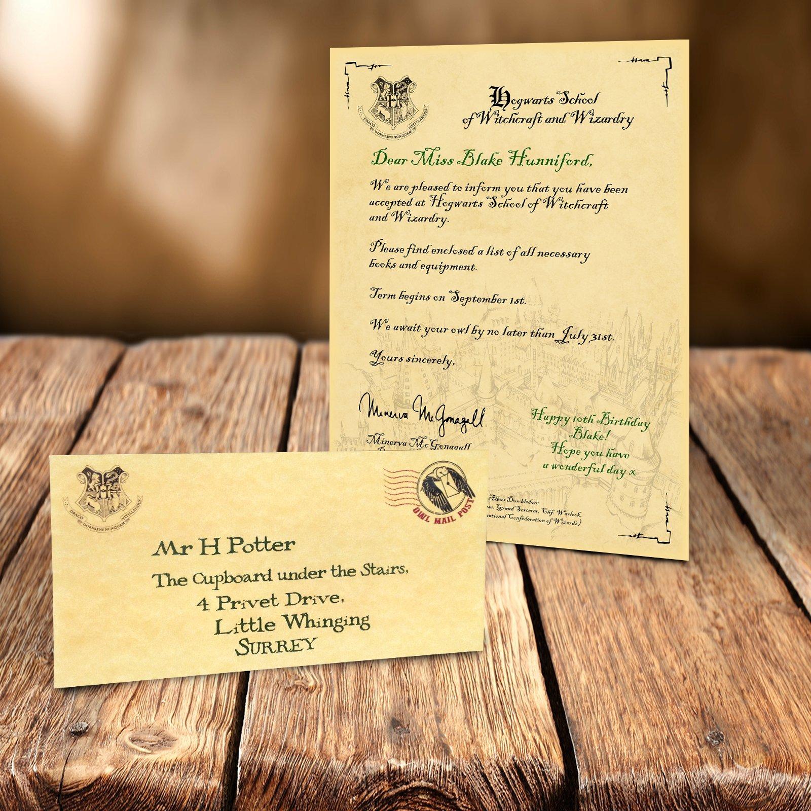 Worlds Afar Personalised Hogwarts Acceptance Letter Envelope Harry Potter Gift Merchandise Gifts For Girls Or Boys Buy Online In United Arab Emirates At Desertcart Productid 47933699