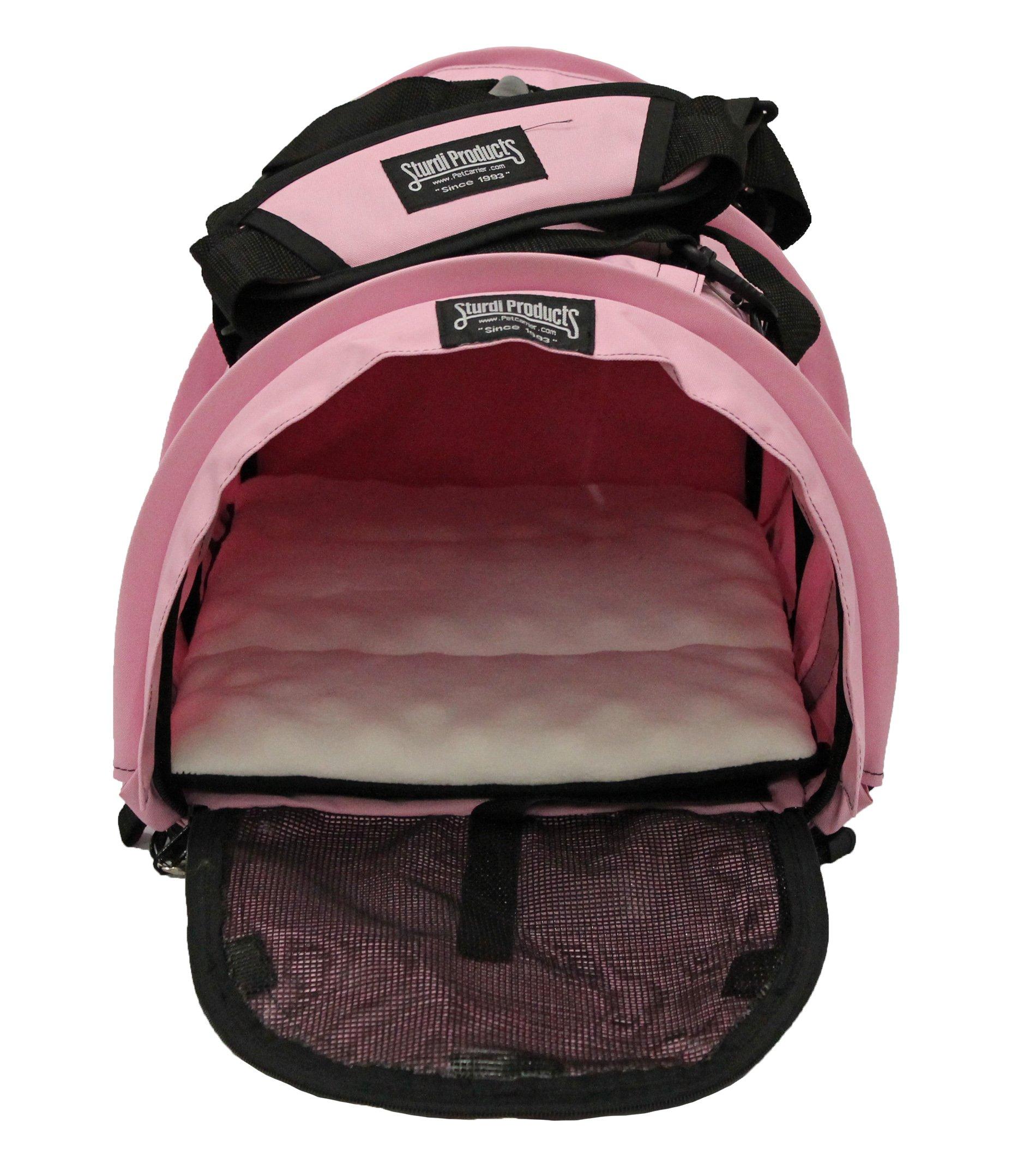 STURDI PRODUCTS SturdiBag Pet Carrier, Large, Soft Pink by STURDI PRODUCTS