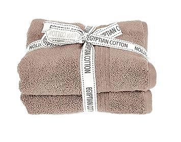 Spa toallas ropa de baño Mocha (mano, baño, hoja, alfombra de baño), algodón egipcio, moca, 2 x Hand Towels: Amazon.es: Hogar