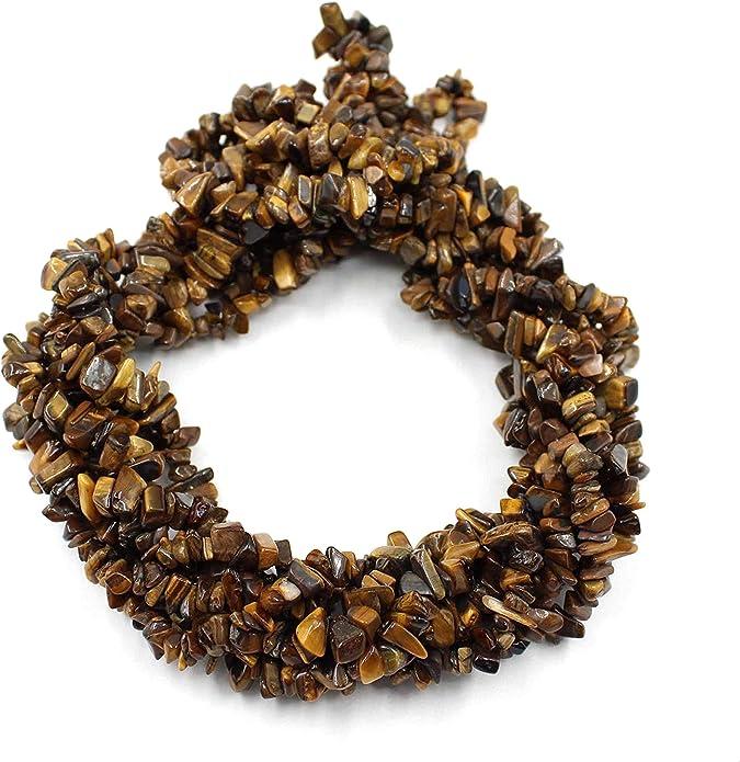 Perlas de piedras preciosas sin cortar de ojo de tigre ...
