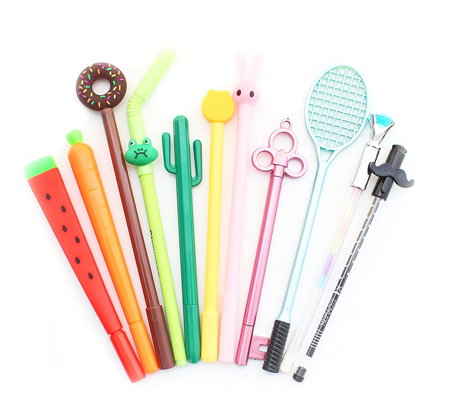 SKKSTATIONERY 12 PCS Gel Ink Pen Set, Cute Cartoon Favor, Different Styles Assorted