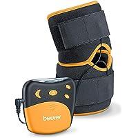 Beurer EM29 Electroestimulador para Rodilla sy codos 2 en 1, Negro, 4 Programa sEntrenamiento, Cinta Flexible y Ajustable