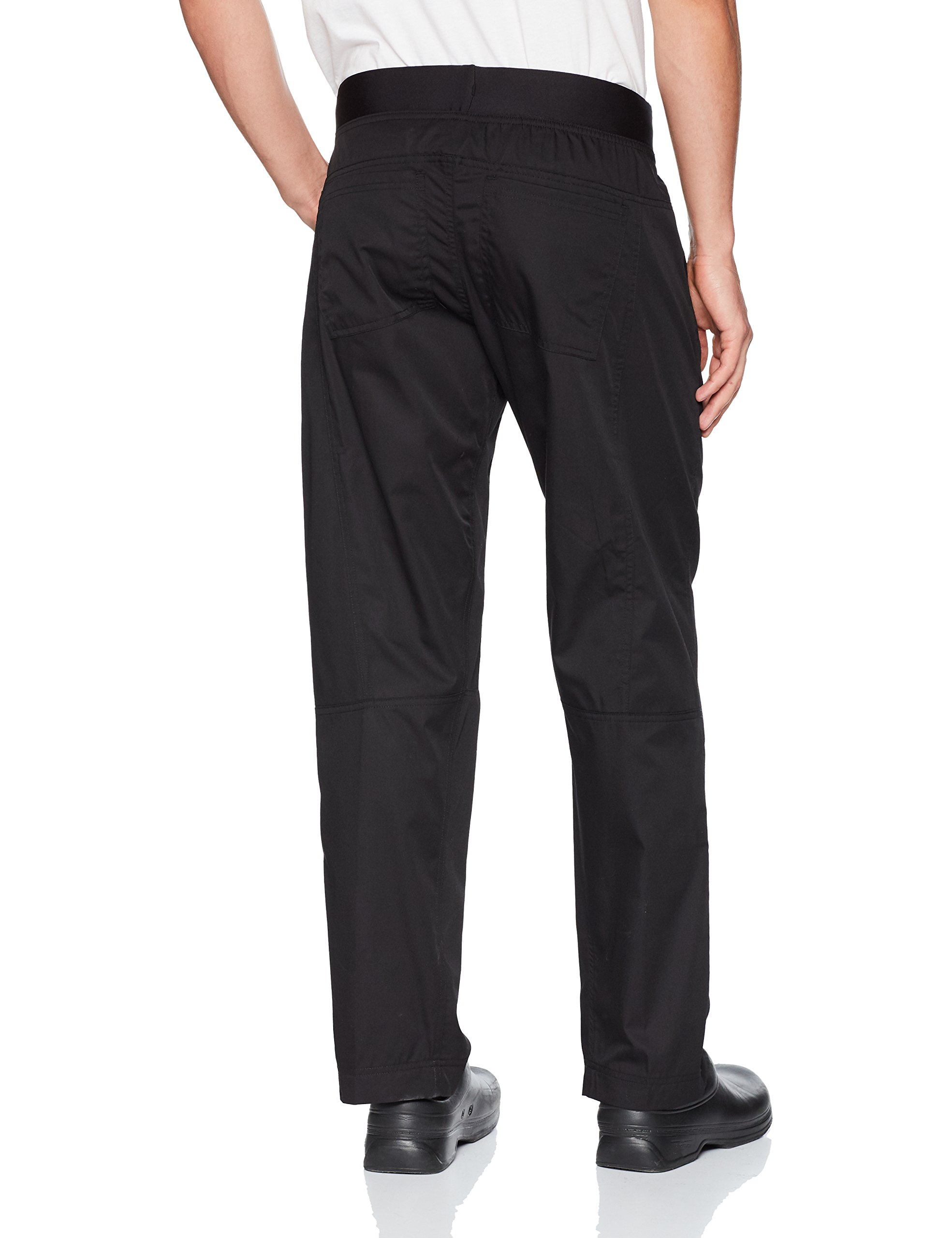 Chef Works Men's Lightweight Slim Chef Pants, Black, Small by Chef Works (Image #2)