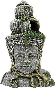 nomal Aquarium Decorations Head, Fish Tank Decorations Cave Buddha Head Aquarium Decor Ornament for Fish Tank