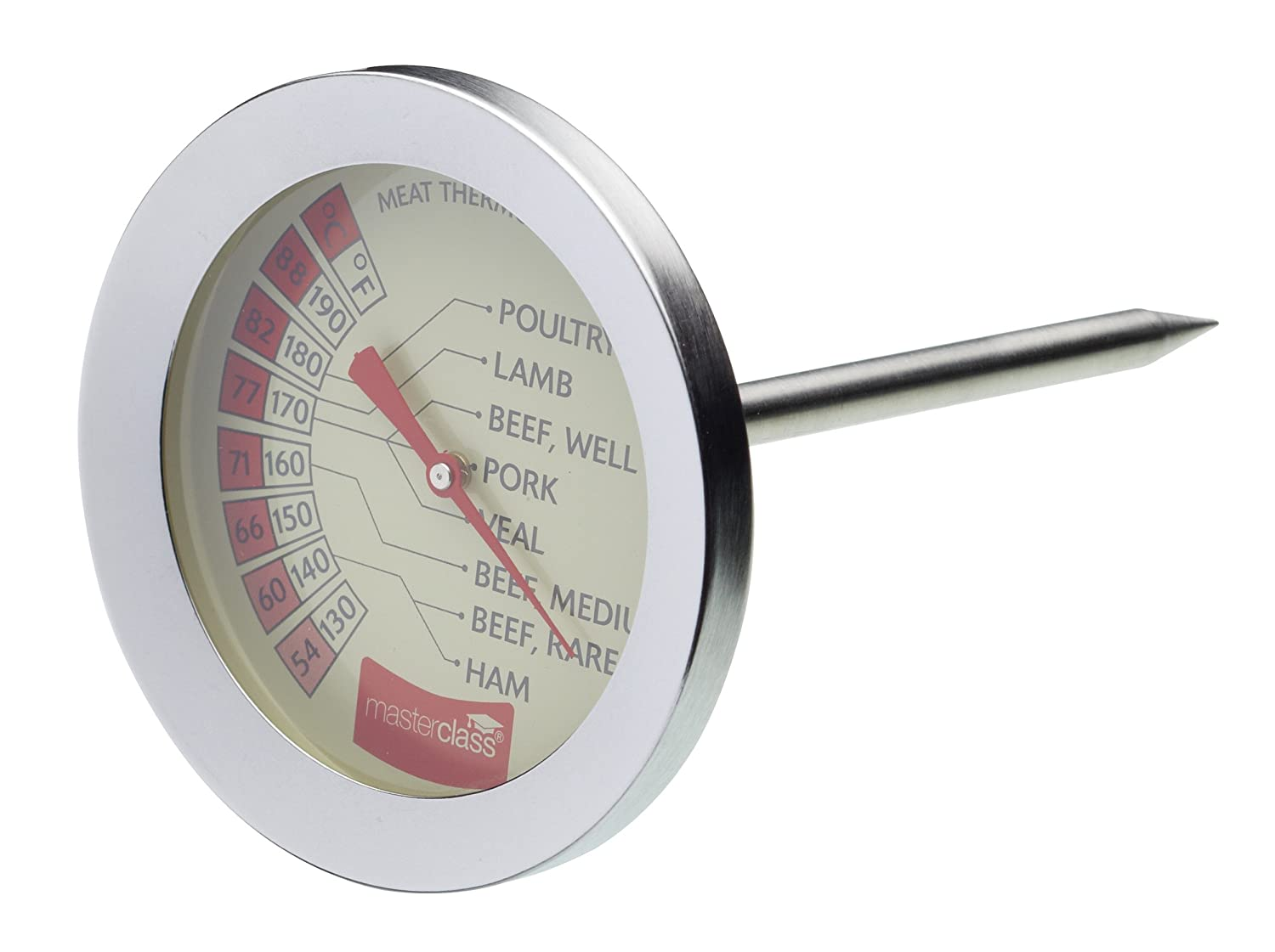 Kitchen Craft Master Class Meat Thermometer Stainless Steel MCMEATSS