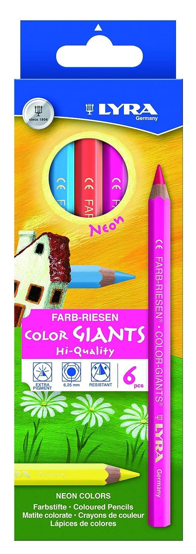 Sortiert LYRA Farb-Riesen Kartonetui mit 6 Farbstiften